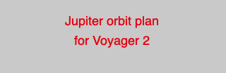 Jupiter orbit plan